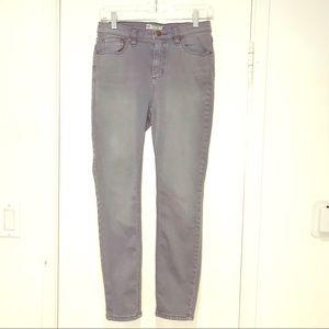 Free People Grey Skinny Stretch Jeans